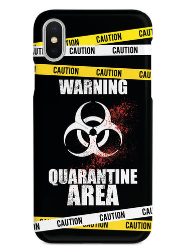 Caution - Quarantine Area - Black Case