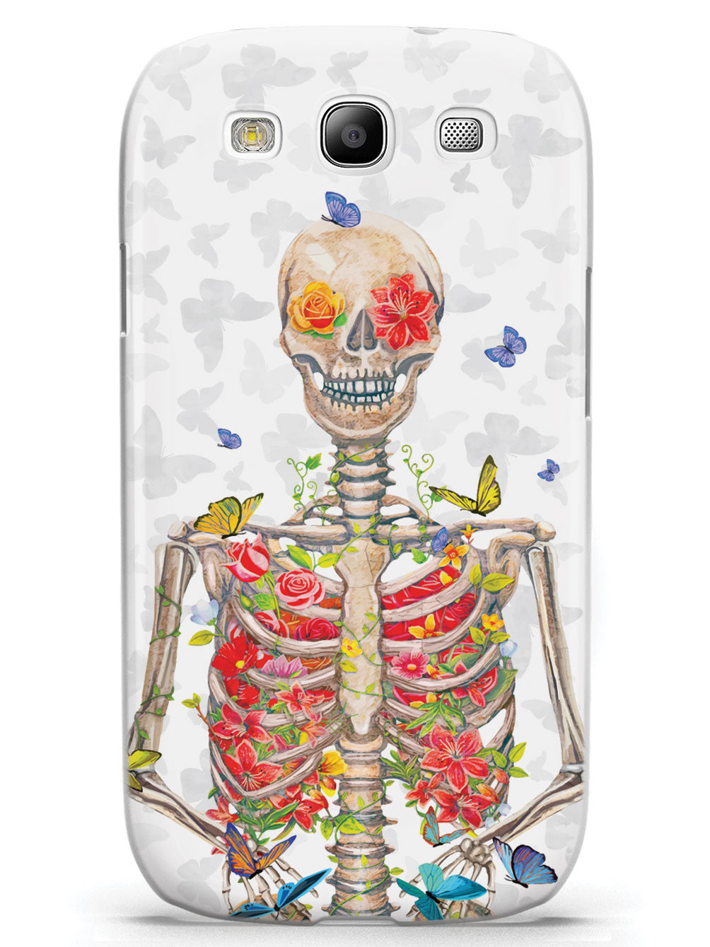 Flower Skeleton & Butterflies Case
