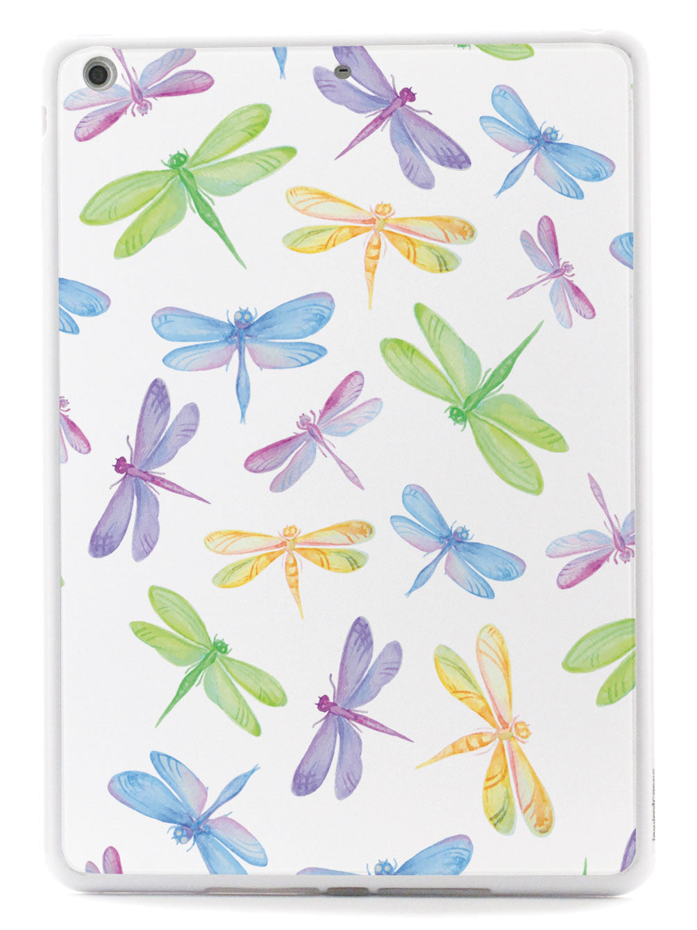 Watercolor Dragonflies Pattern - White Case
