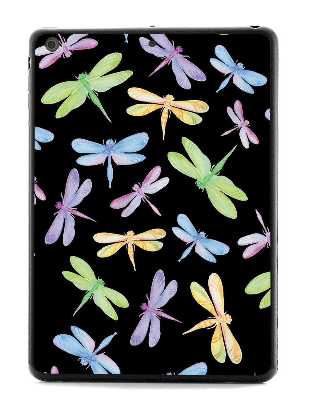 Watercolor Dragonflies Pattern - Black Case