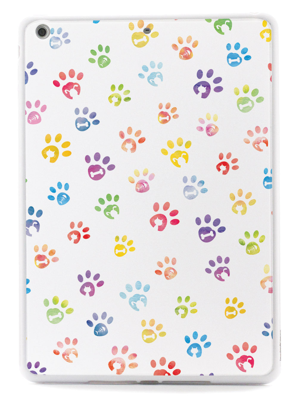 Dog & Cat Lover - Small Watercolor Paw Prints - White Case