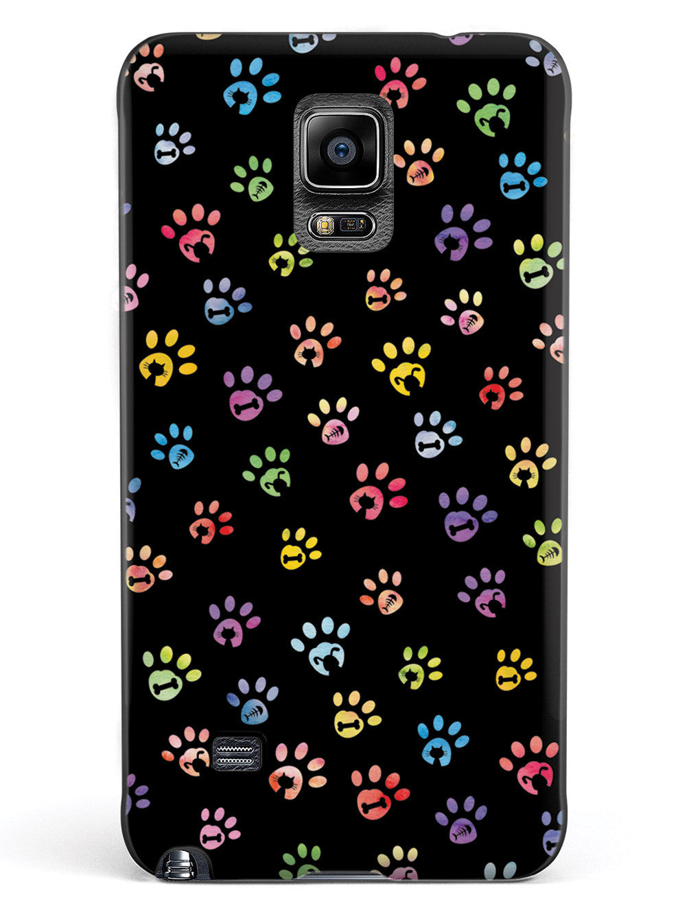 Dog & Cat Lover - Small Watercolor Paw Prints - Black Case