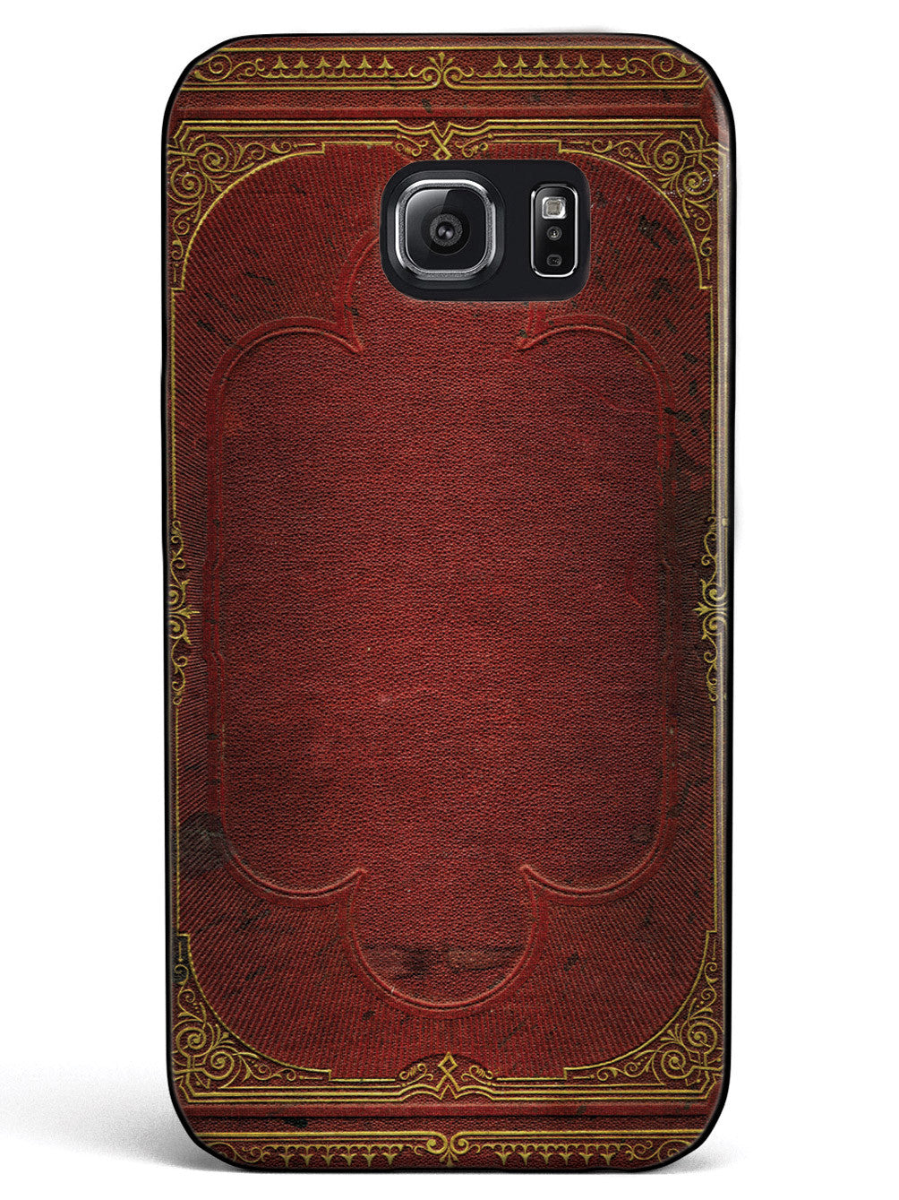 Ancient Book Cover - Red and Gold - Black Case