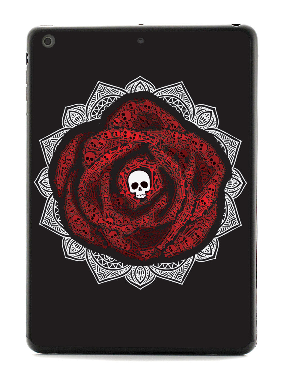 Red Rose Skull - Black Case