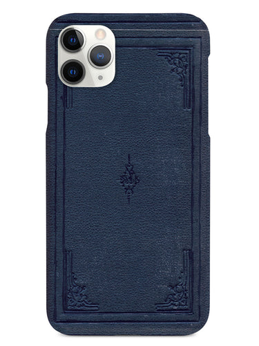 Dark Blue Book Cover - Black Case