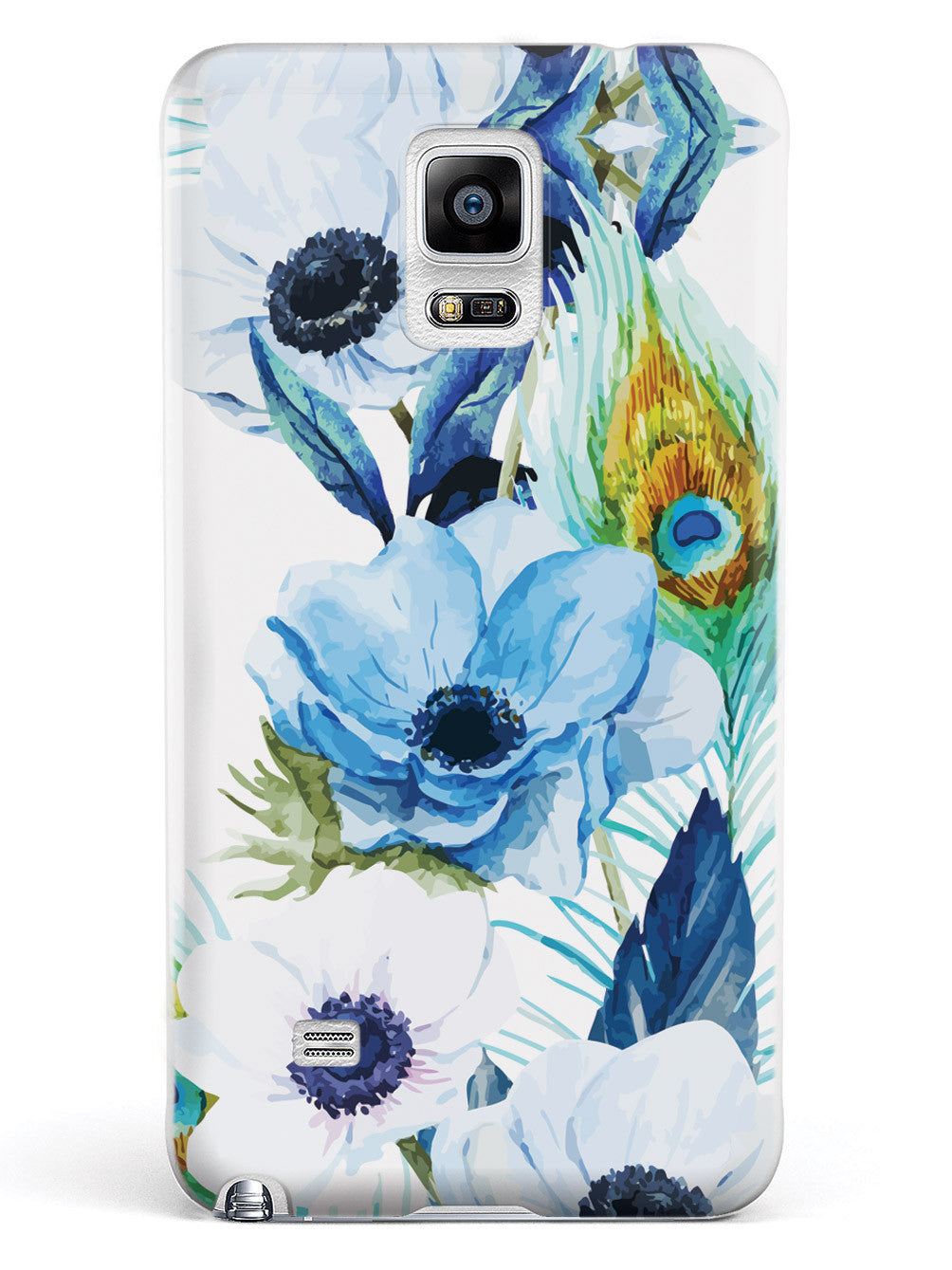 Peacock Feather Flowers - White Case