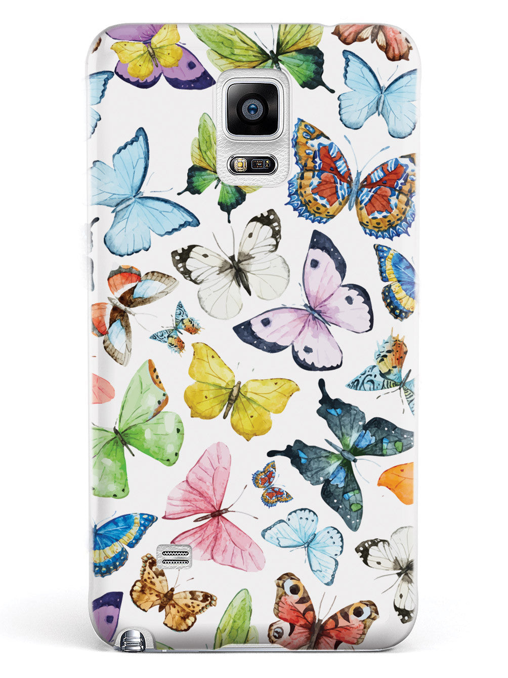 Watercolor Butterflies - White Case