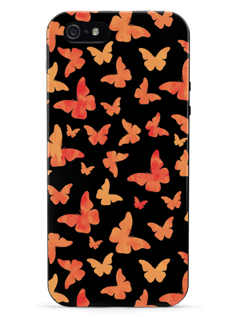 Orange Butterflies - Black Case