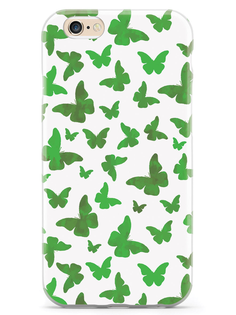 Green Butterflies - White Case