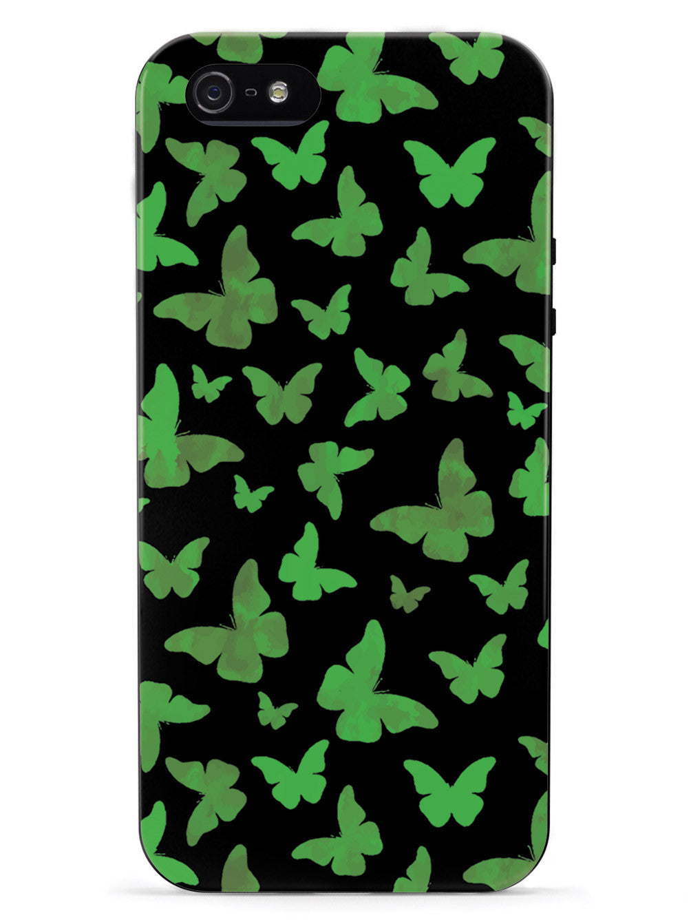 Green Butterflies - Black Case