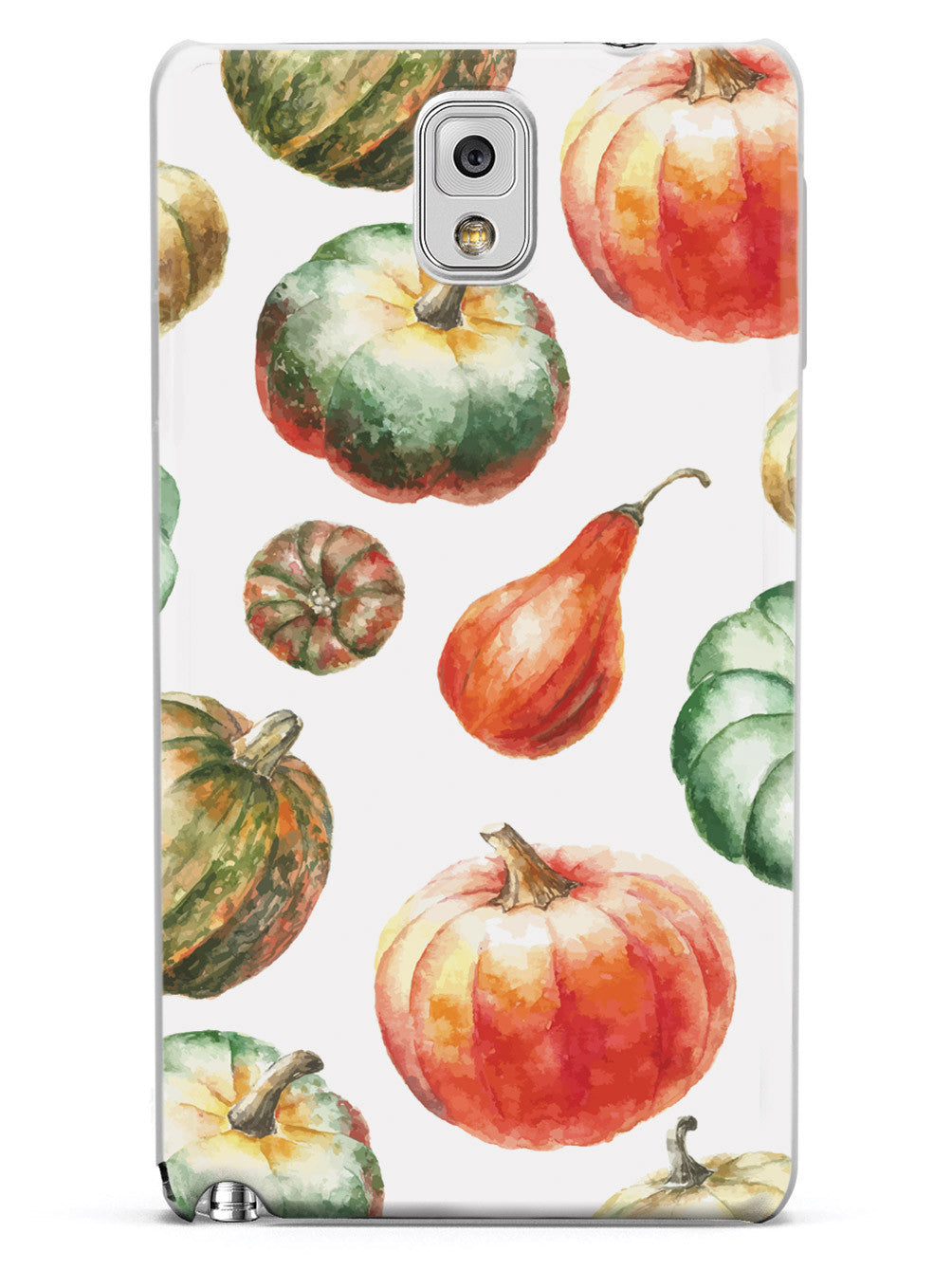 Watercolor Pumpkins - White Case