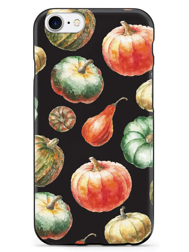 Watercolor Pumpkins - Black Case