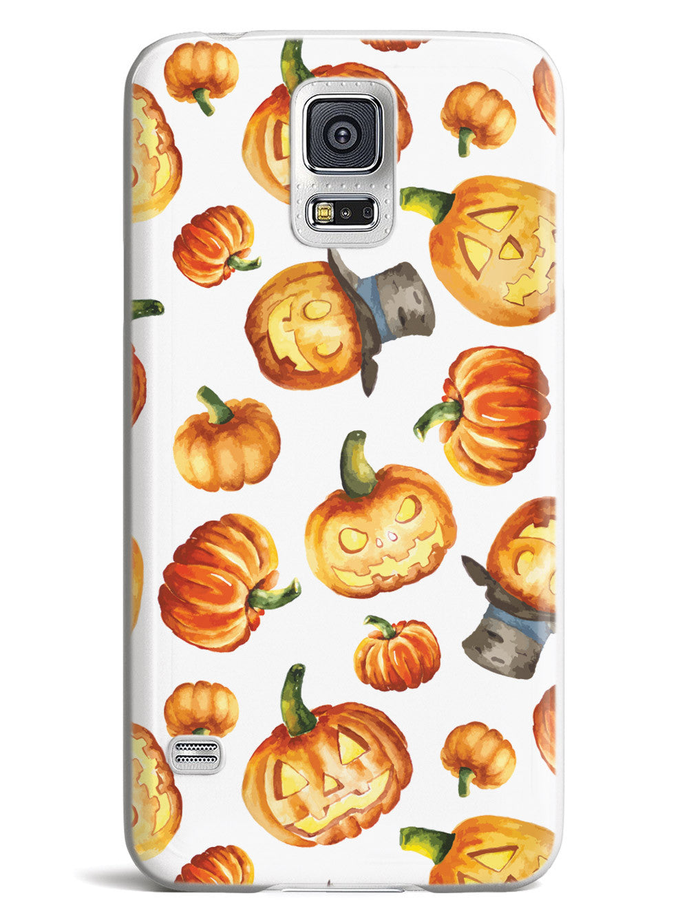 Watercolor Jack O Lanterns - White Case