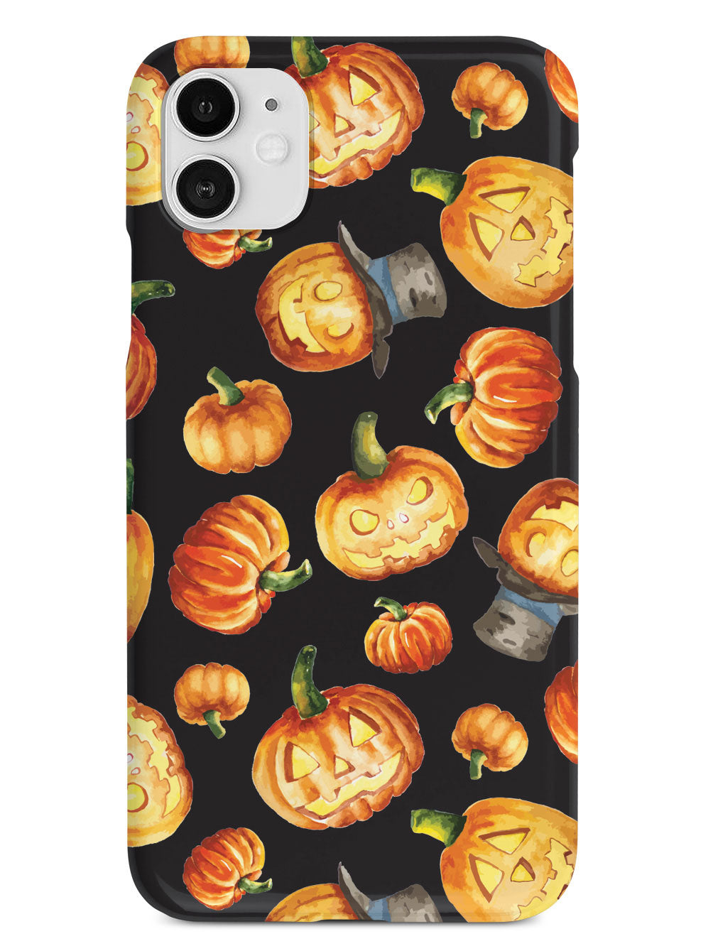 Watercolor Jack O Lanterns - Black Case