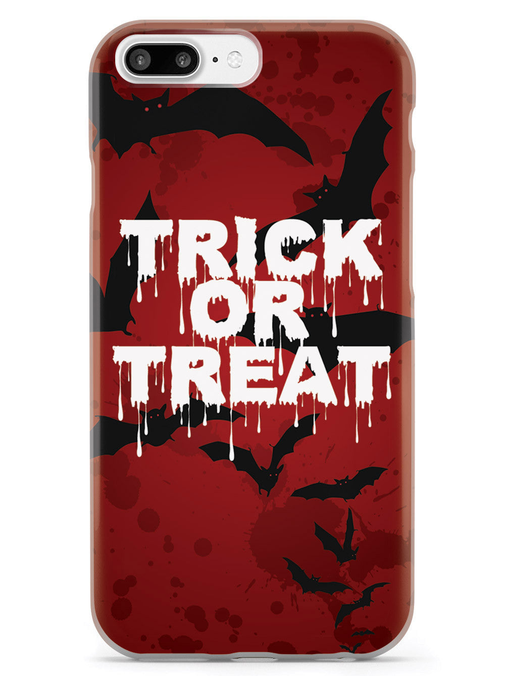 Trick or Treat - Bats in Red Background - White Case