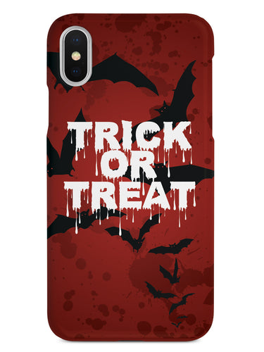 Trick or Treat - Bats in Red Background - Black Case