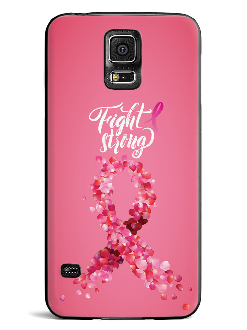 Fight Strong - Breast Cancer Awareness - Black Case
