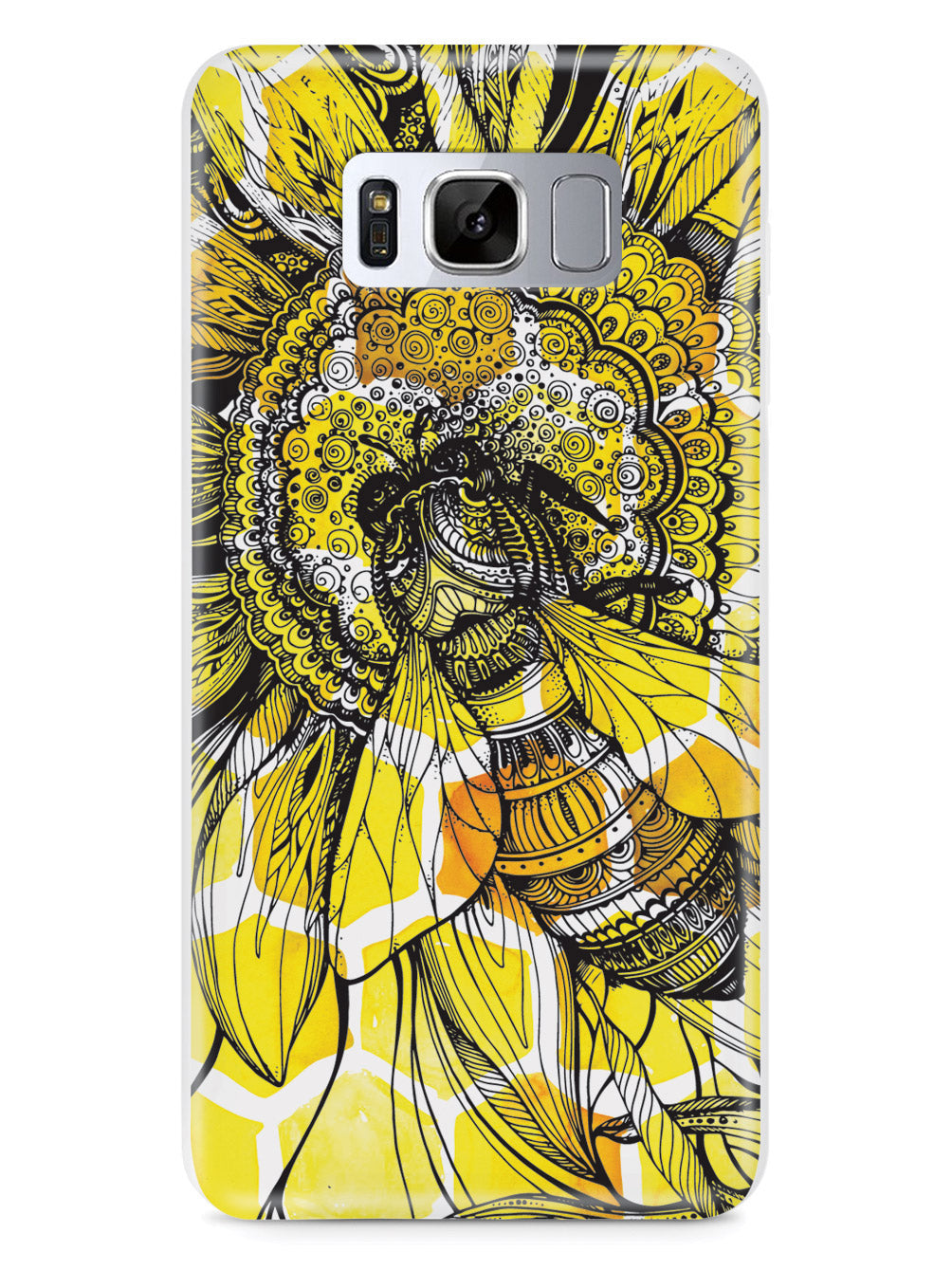 Sunflower Honey Bee - White Case