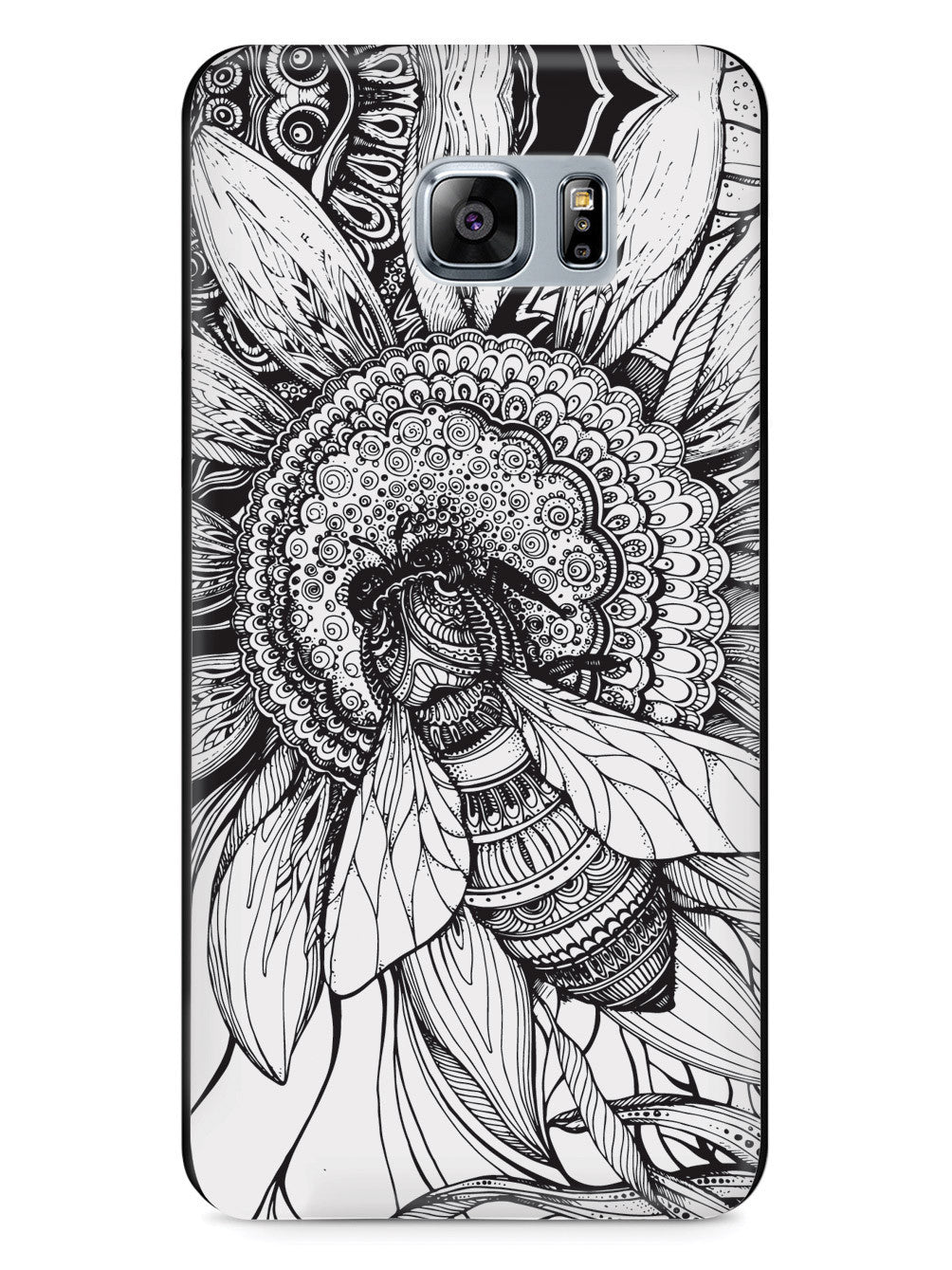 Sunflower & Bee - Sketch - Black Case