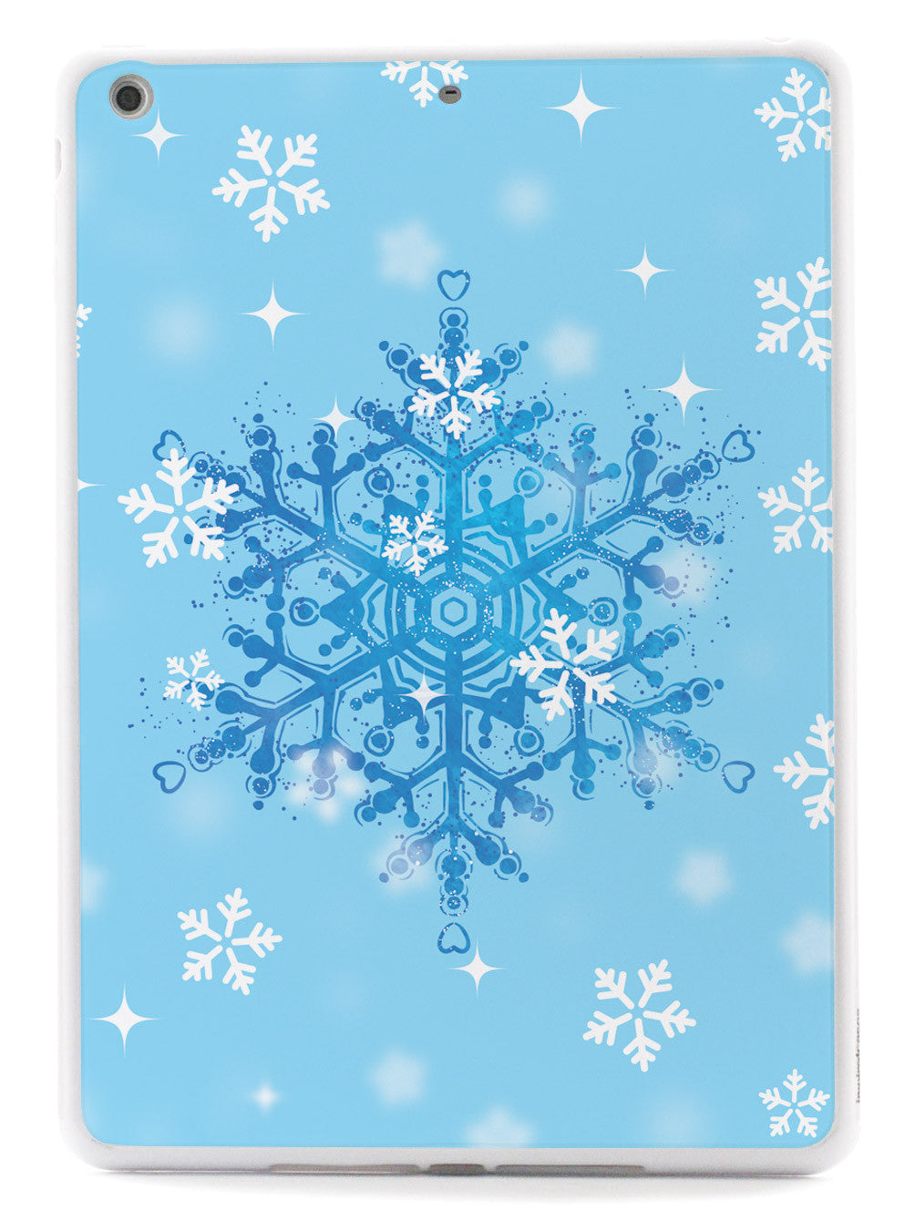 Blue and White Snowflakes - White Case