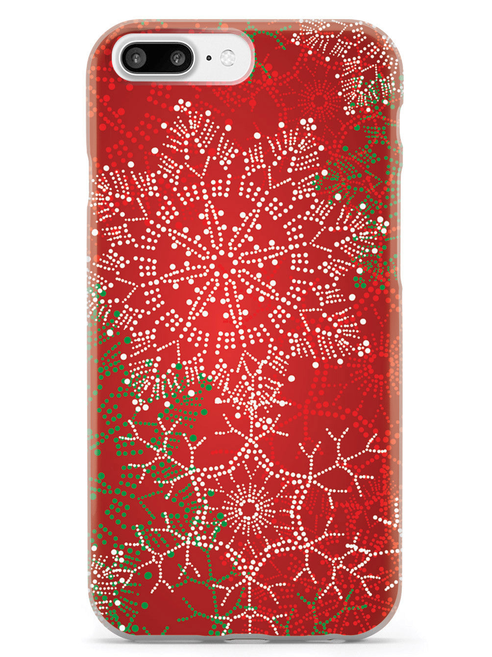 Christmas Snowflakes - Polka Dots - White Case