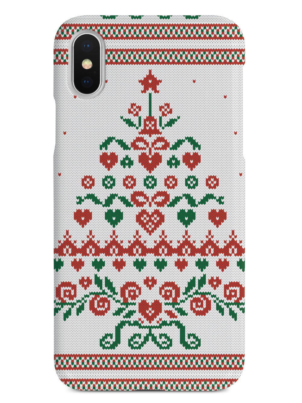 Christmas Tree Sweater Texture - White Case