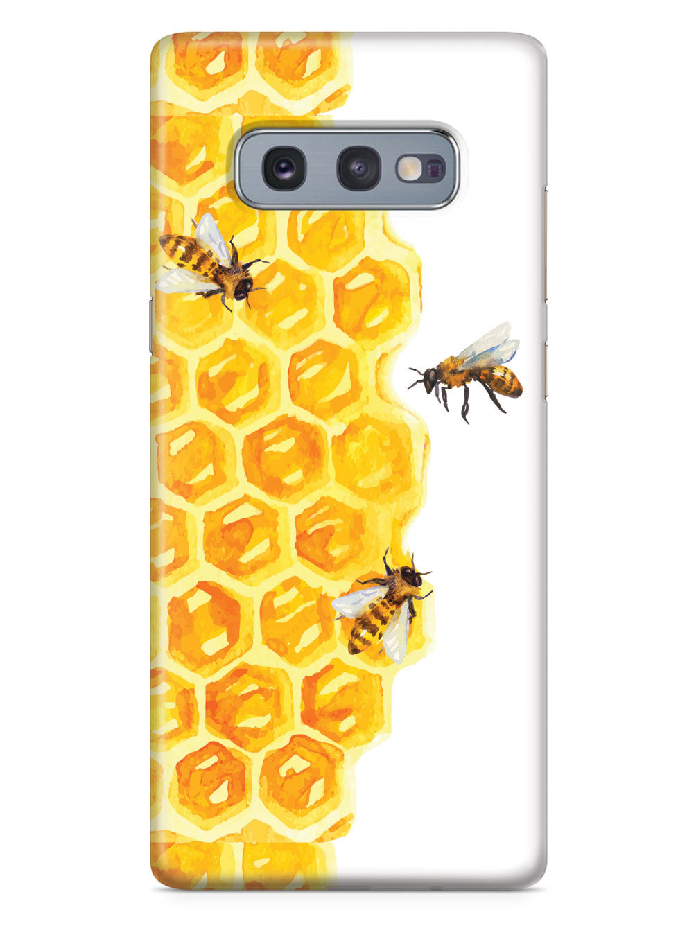 Watercolor Bees on Honeycomb - White Case