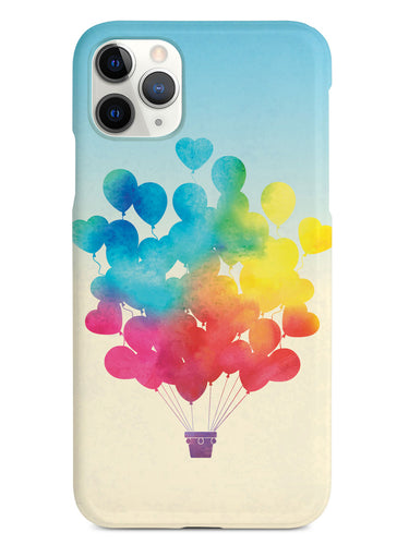 Rainbow Hot-Air Balloon - Black Case