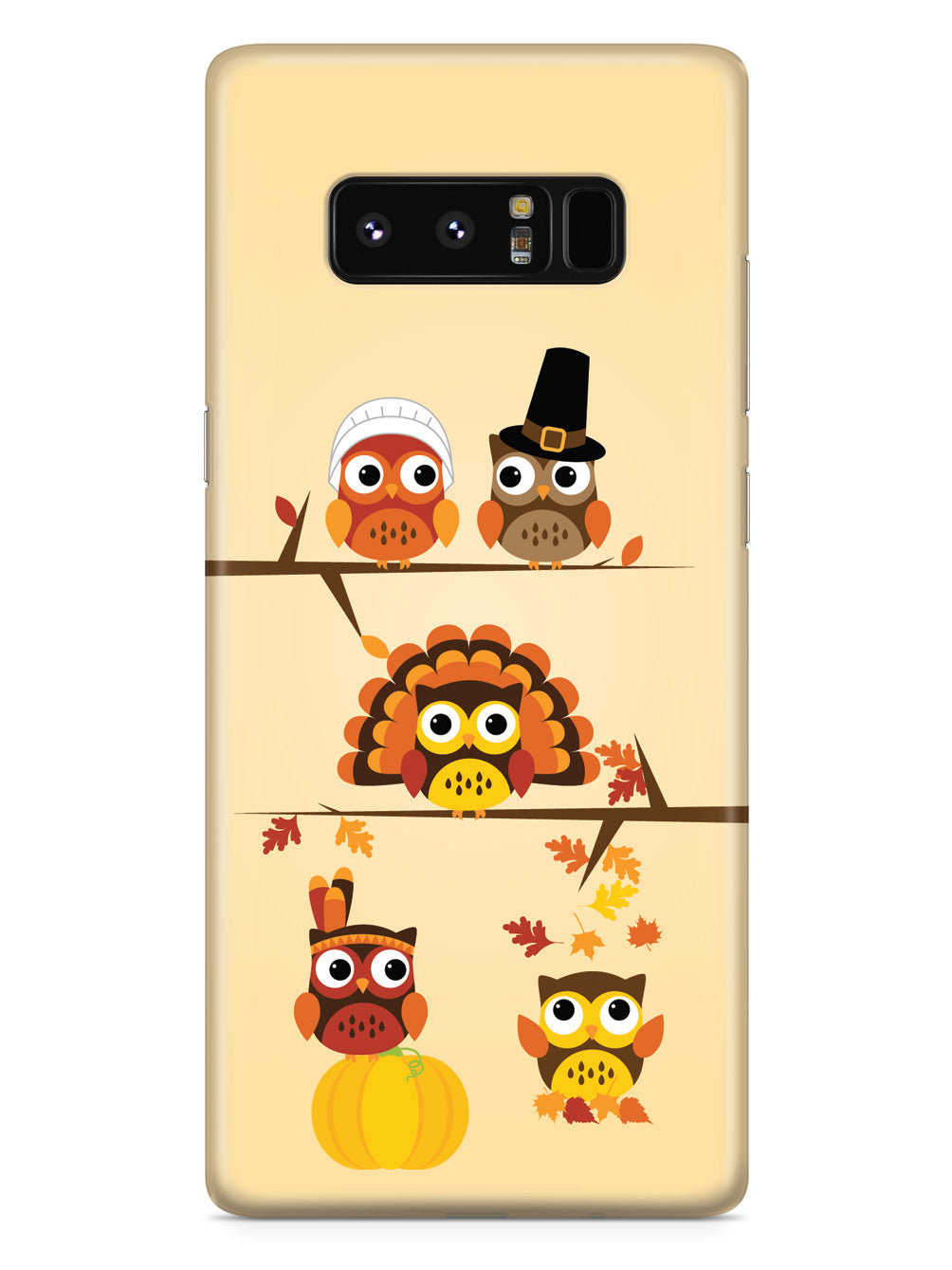 Thanksgiving Owls - Black Case