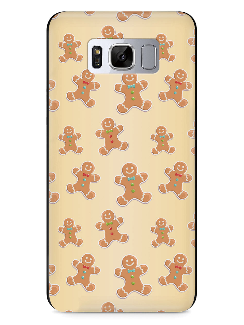 Gingerbread Man Pattern - Black Case