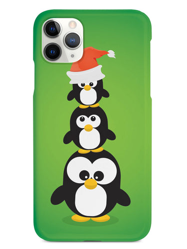 Christmas Penguin Trio - Green Case