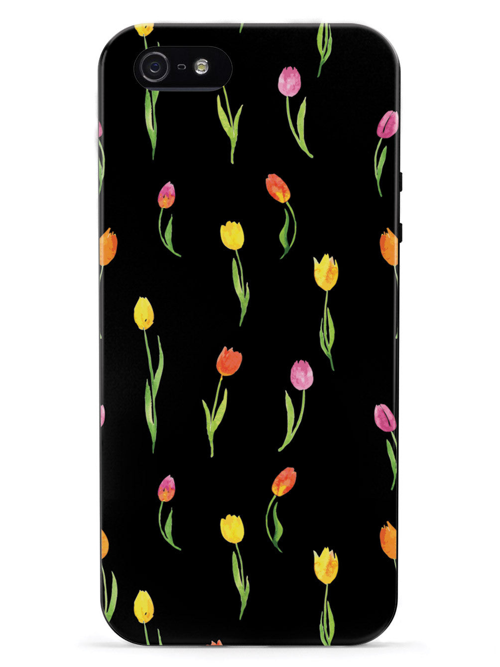 Tulips Pattern - Black Case