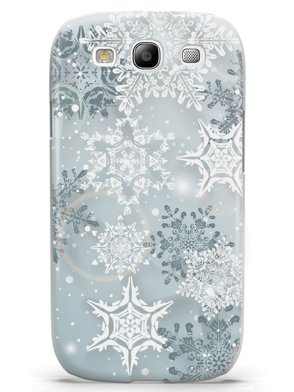 Silver Winter Snowflakes - White Case