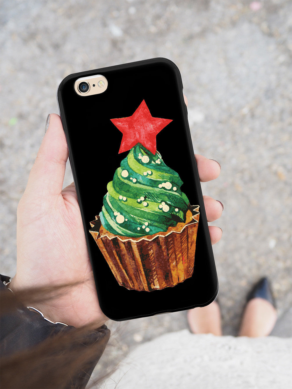 Christmas Cupcake - Black Case