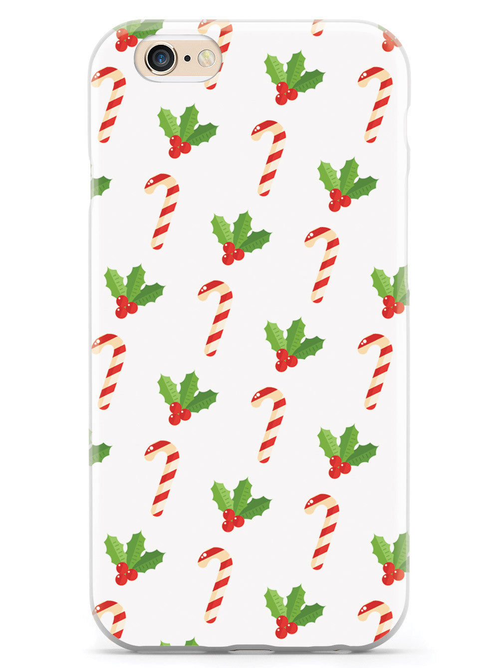 Christmas Candy Cane Pattern - White Case