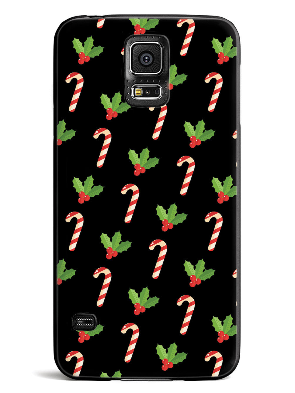 Christmas Candy Cane Pattern - Black Case