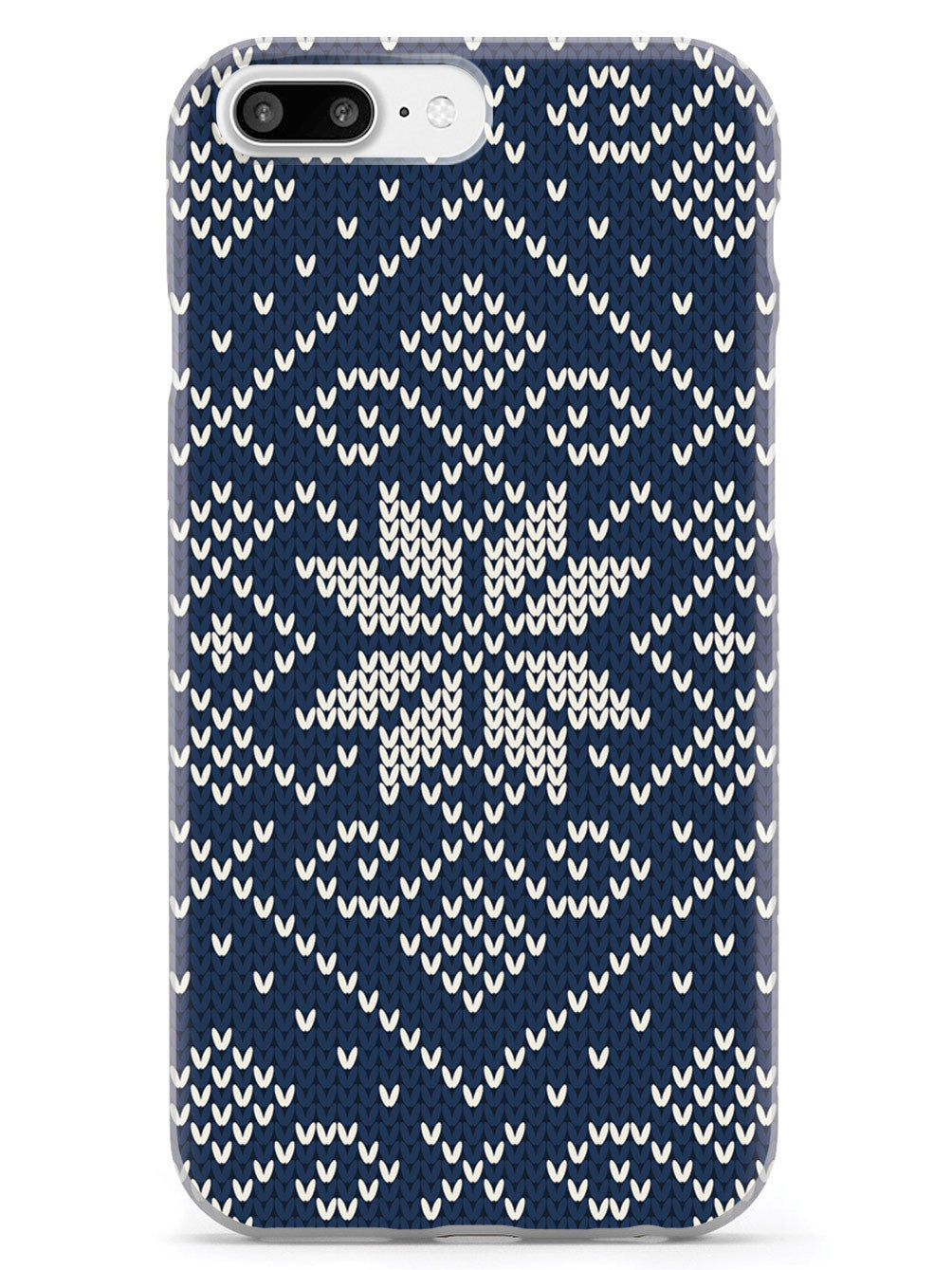 Blue and White Sweater Texturized - White Case