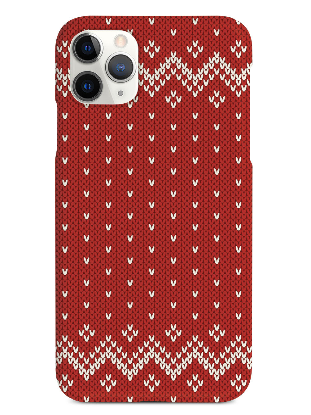 Red and White Sweater Texturized - White Case