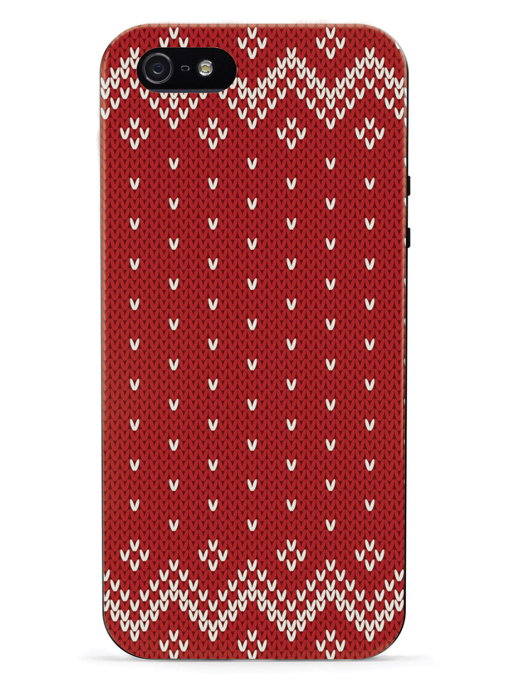 Red and White Sweater Texturized - Black Case