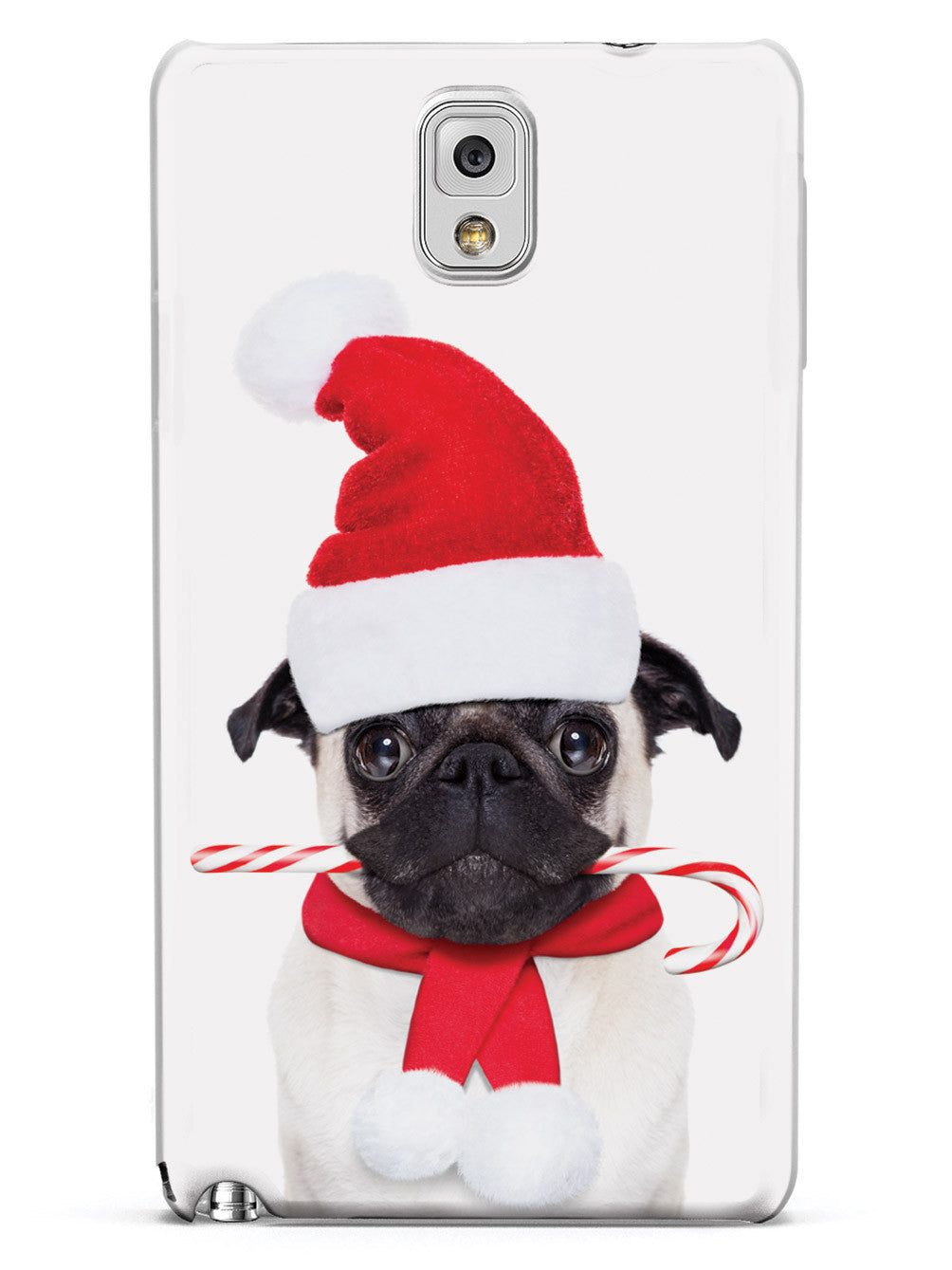 Candy Cane Christmas Pug Case