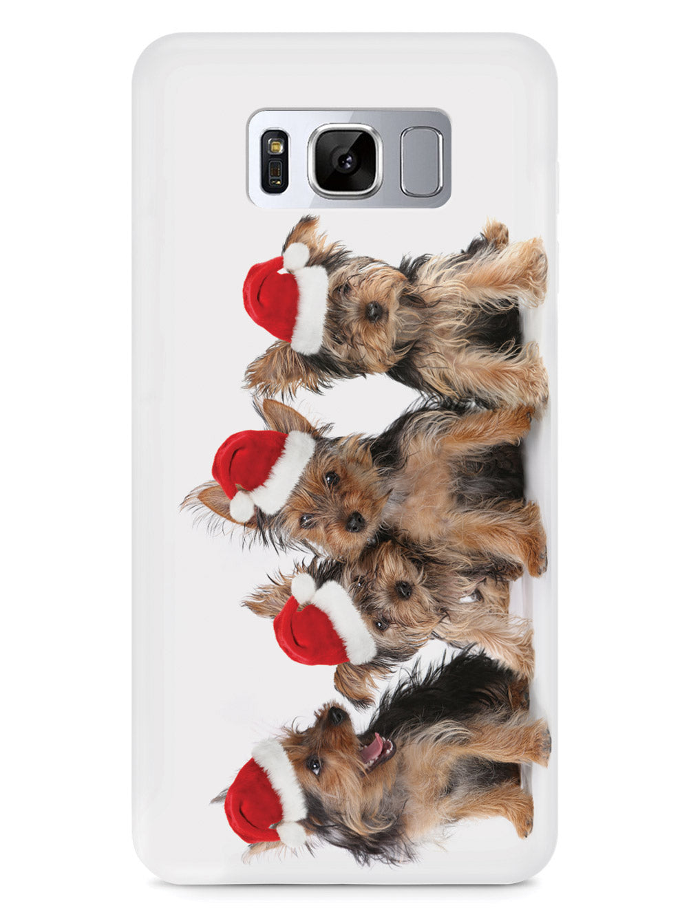 Cute Christmas Yorkies Case