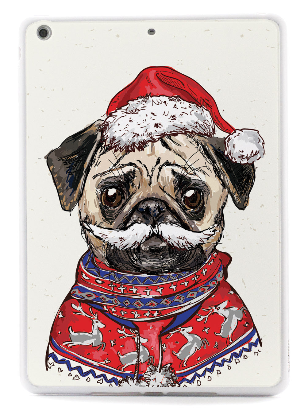 Christmas Pug Illustration Case
