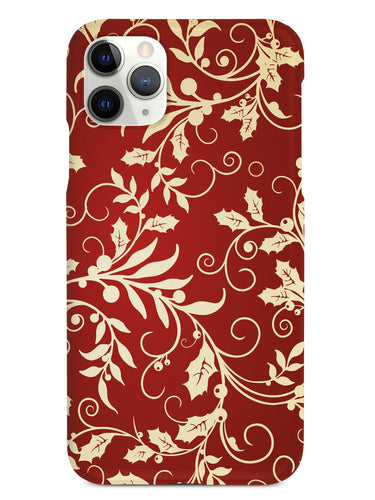 Elegant Christmas Leaves - White Case