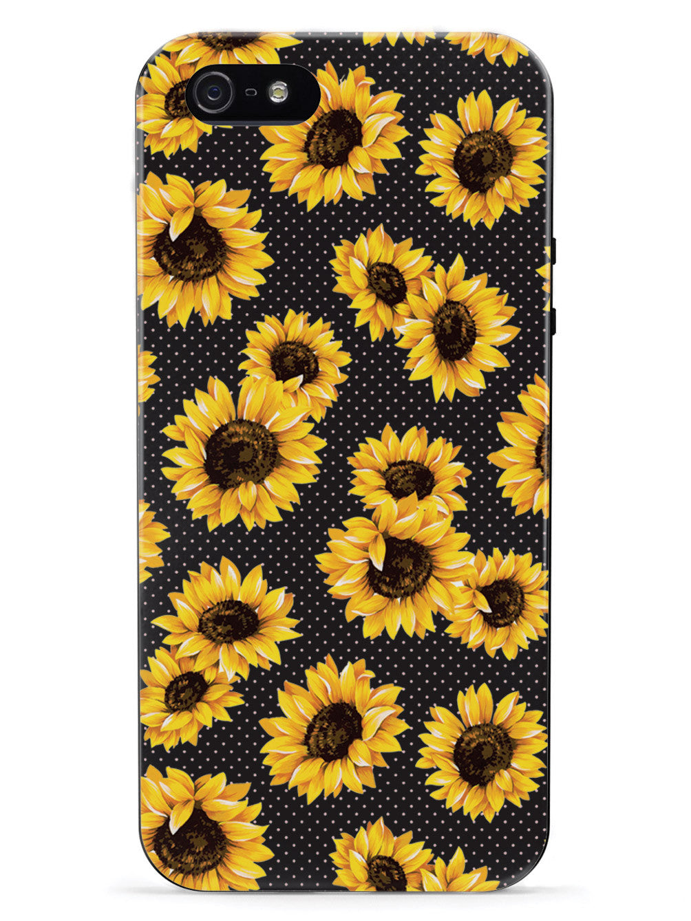 Sunflower Pattern - Black Case