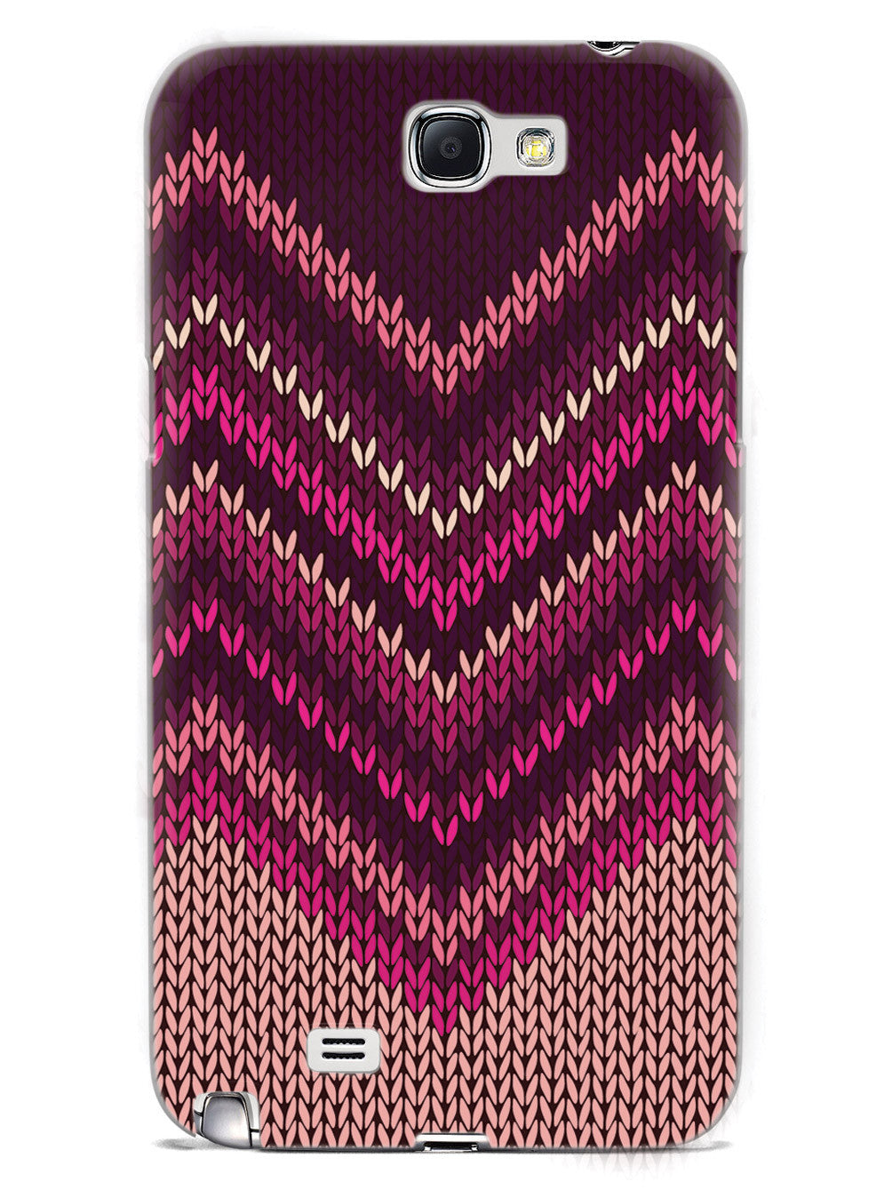 Pink and Purple Sweater Texture - White Case