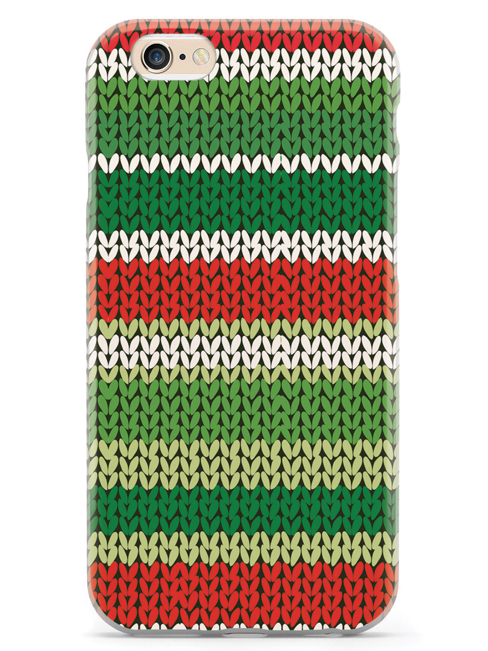 Red and Green Sweater Texture - White Case