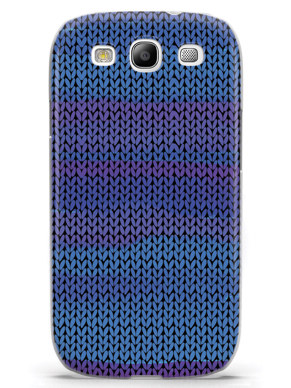 Shades of Blue Sweater Texture - White Case