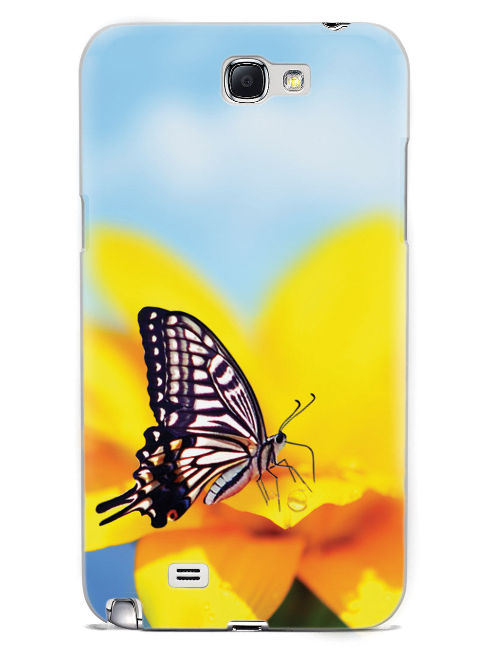 Monarch Butterfly on Yellow Flower - White Case