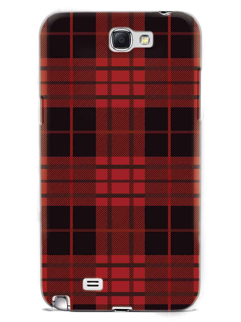 Red and Black Plaid - White Case