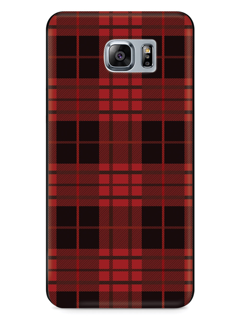 Red and Black Plaid - Black Case
